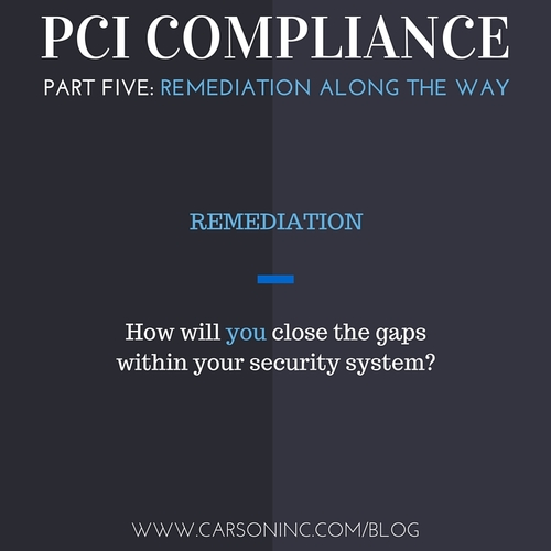 PCI Compliance: How to Develop a Remediation Plan